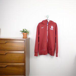 Nike OU University of Oklahoma Sooners Zip Jacket